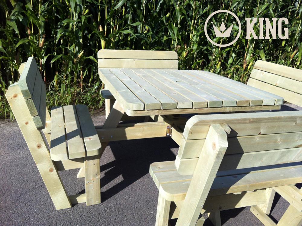 <BIG><B>KING ® Rugleuning (voor Vierkante, Vierkante XXL en Ronde KING picknicktafels)</B></BIG>