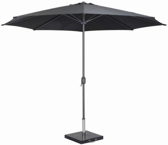 <BIG><B>Parasol Salou zwart, Ø3m.</B></BIG>