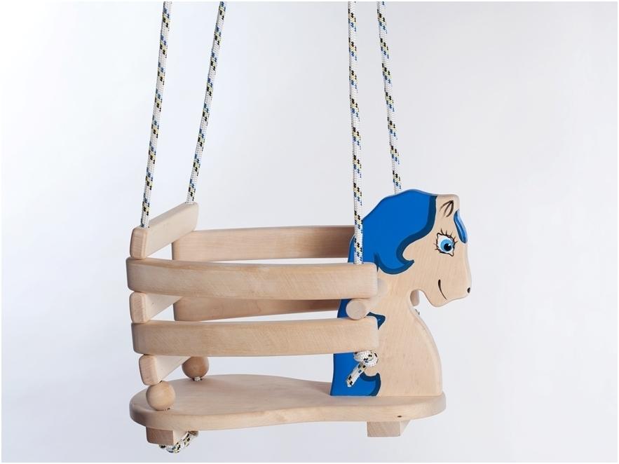 Schommel Paard blauw