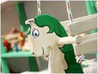 Schommel Paard groen