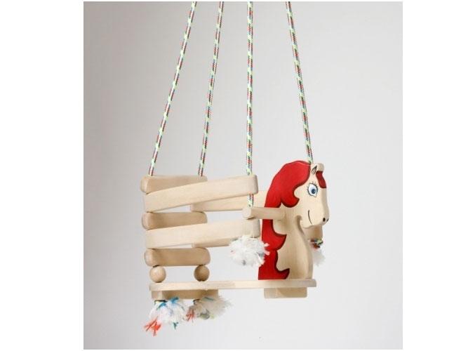 Schommel Paard rood