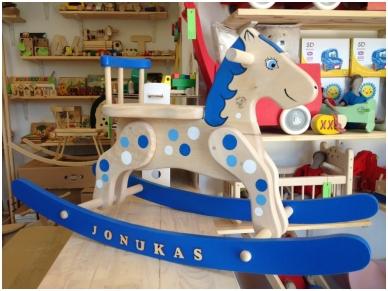 Schommelstoel Paard Blauwe wolk