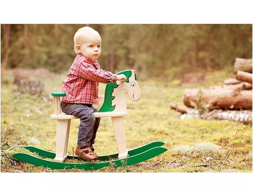 Schommelstoel Paard groen