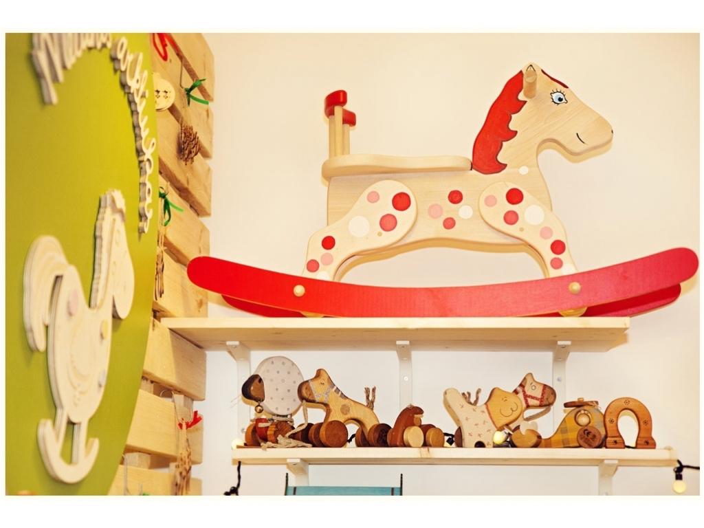Schommelstoel Paard Rode wolk