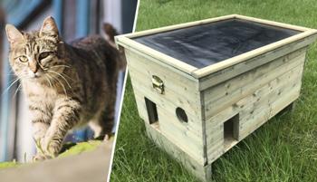 <BIG><B>Luxe schuilhok voor (zwerf)katten</B></BIG>