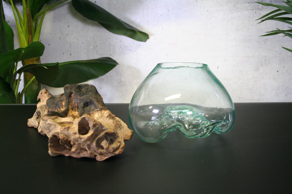 <BIG><B>Sofie Glas decoratie Vaas</B></BIG>