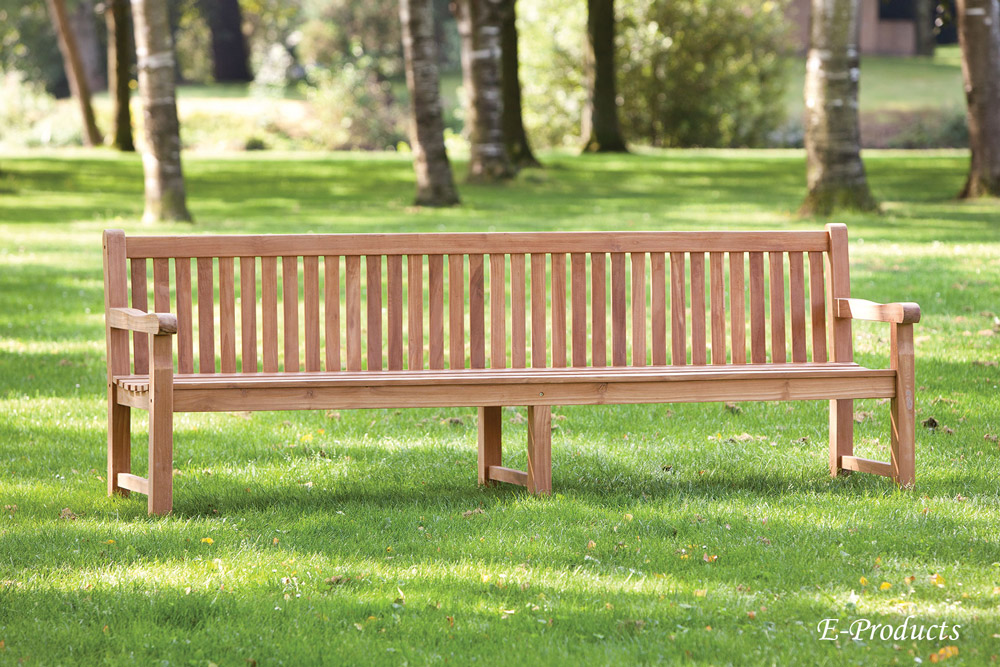 <BIG><B>Banc-de-jardin-en-teck-a-3-pieds-210x91-Norwich (&eacute;paisseur des pieds: 6 cm)</B></BIG>