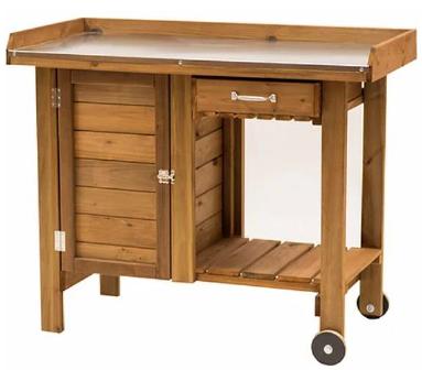 Table de jardin en bois de pin Texas Deluxe