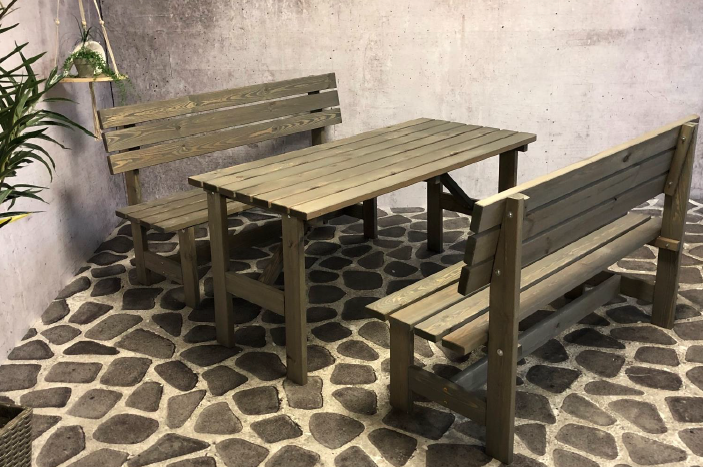 Ensemble de table de jardin tyrolien