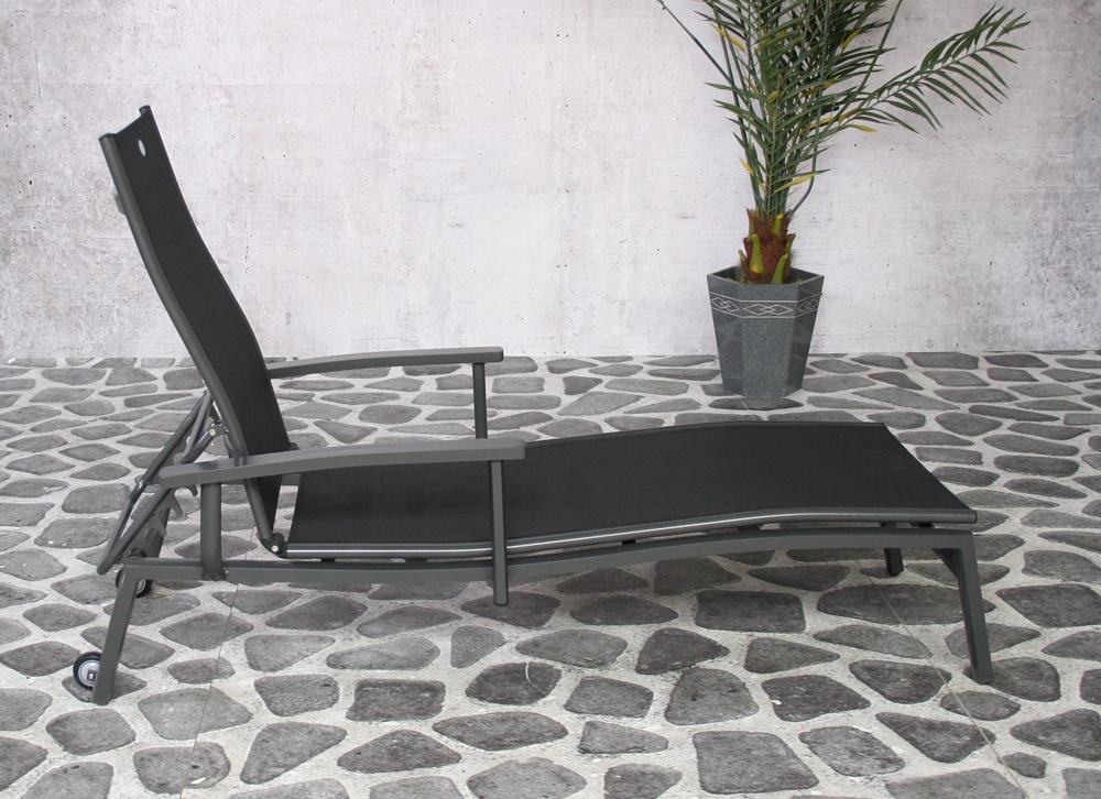 Torino Lounger 2x2 noir