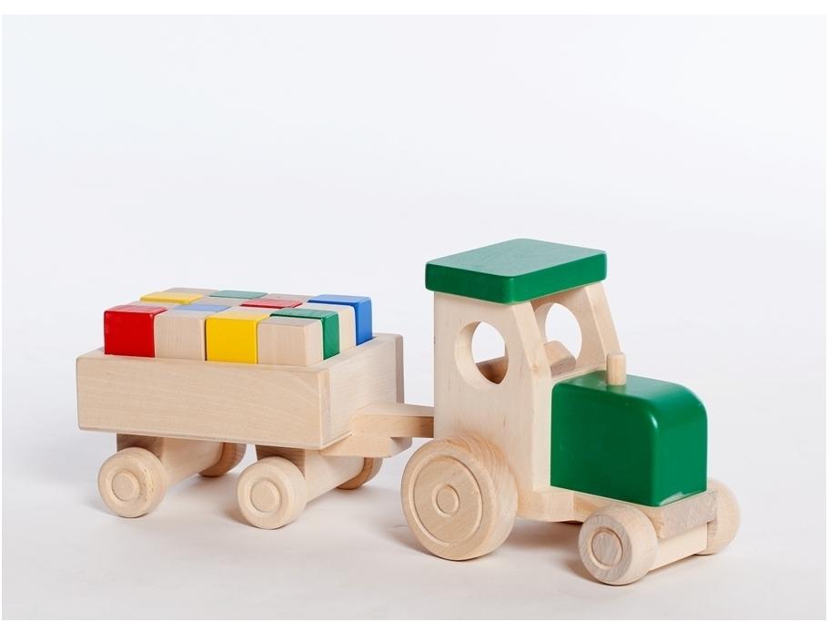 Tractor met blokken