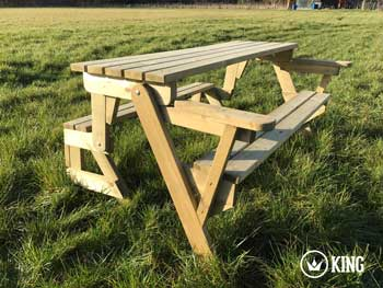 <BIG><B>KING ® Opvouwbare PICKNICKTAFEL 155 cm / 4 cm dikte (+ VIDEO)</B></BIG>