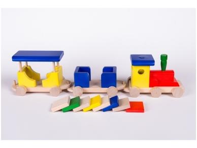 Trein met blokken