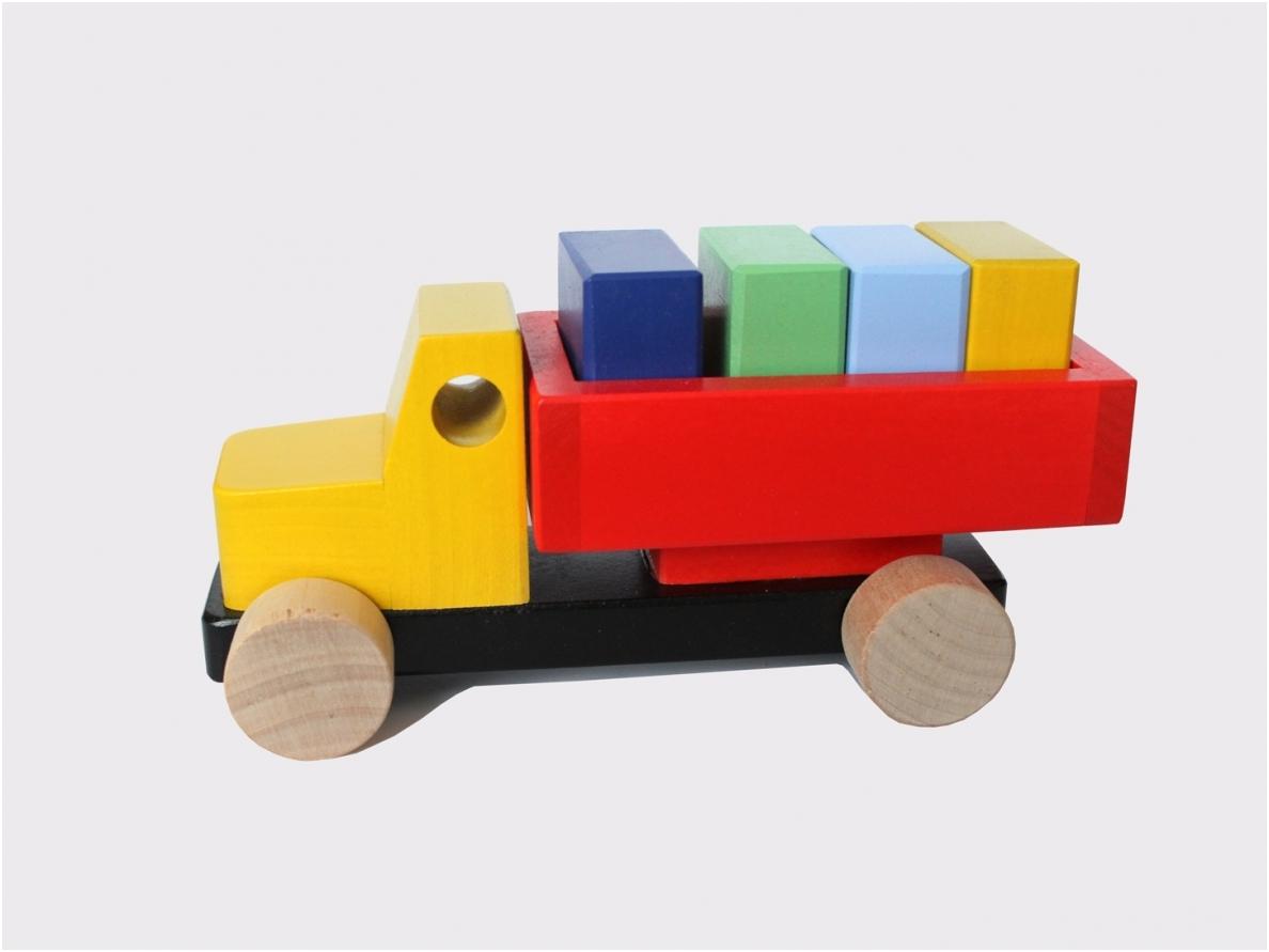 Truck met blokken
