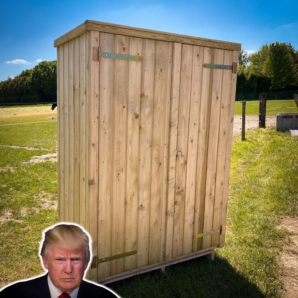 <BIG><B>Tuinkast Trump (190 x 139 x 70 cm)</B></BIG>