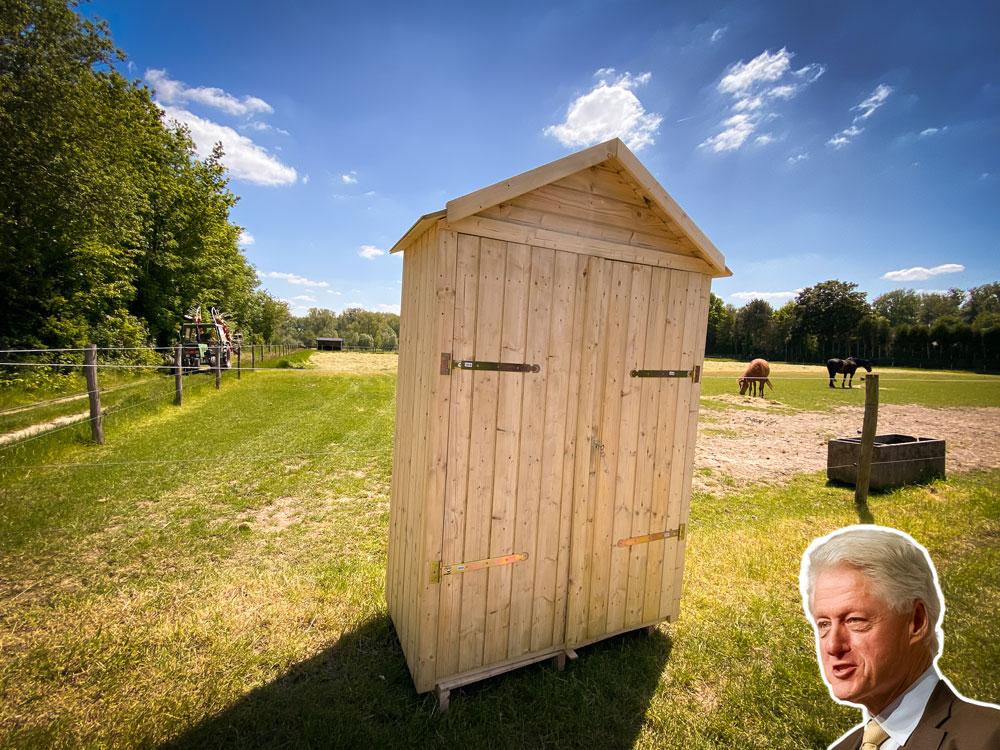 <BIG><B>Tuinkast Clinton (215 x 137 x 70 cm)</B></BIG>