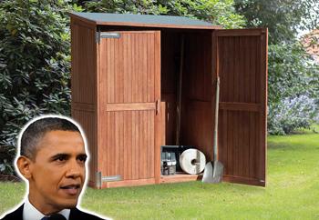 <BIG><B>Tuinkast hardhout Obama (185 x 145 x 65 cm)</B></BIG>
