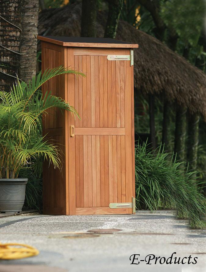Gartenschrank Hartholz santiago:80x65x185