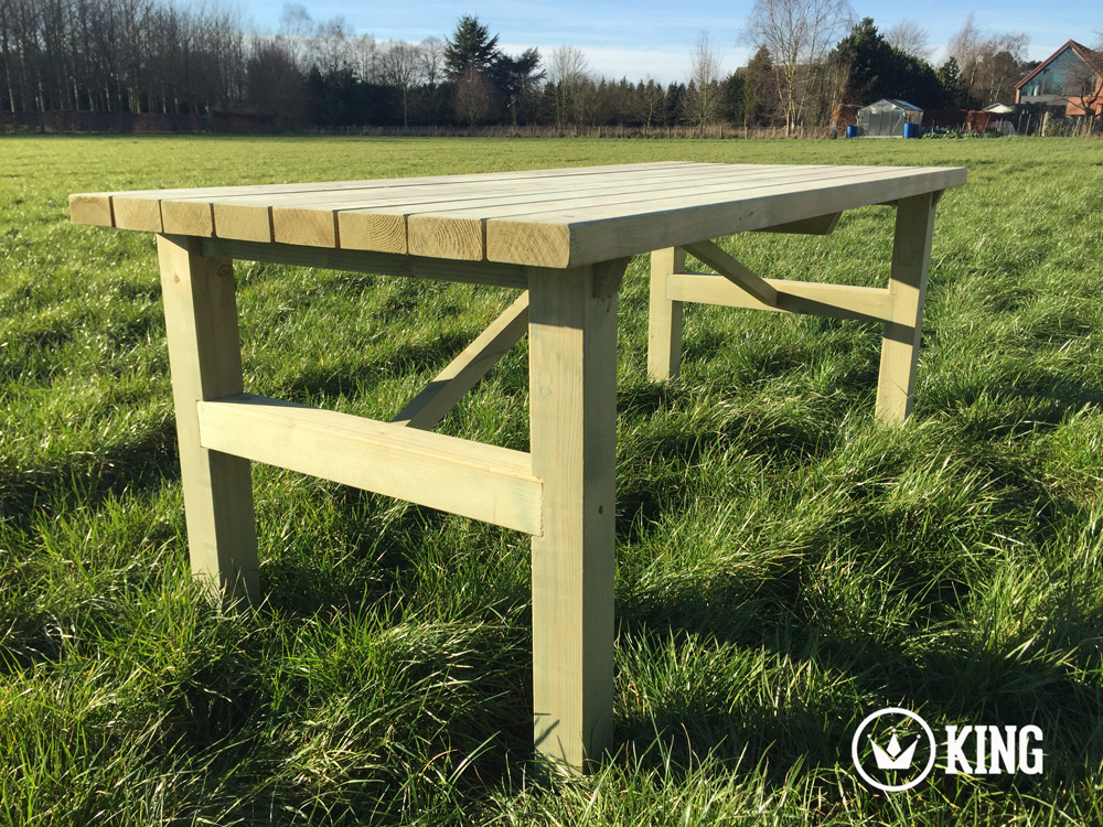 <BIG><B>KING &#174; Table de jardin 2.00m (40 cm)</B></BIG>