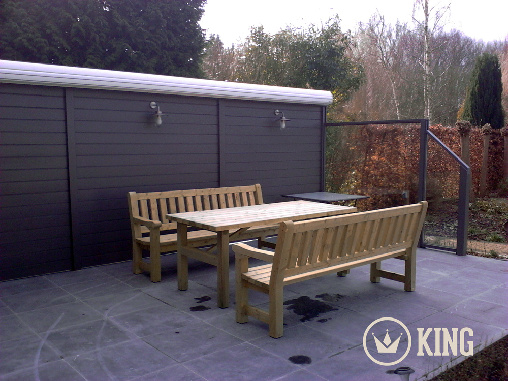 <BIG><B>KING &#174; Set de table de jardin 2.00m (40 cm)</B></BIG>