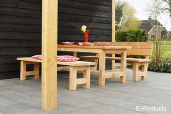 <BIG><B>Douglas set de table Tiemen non traité (200 cm)</B></BIG>