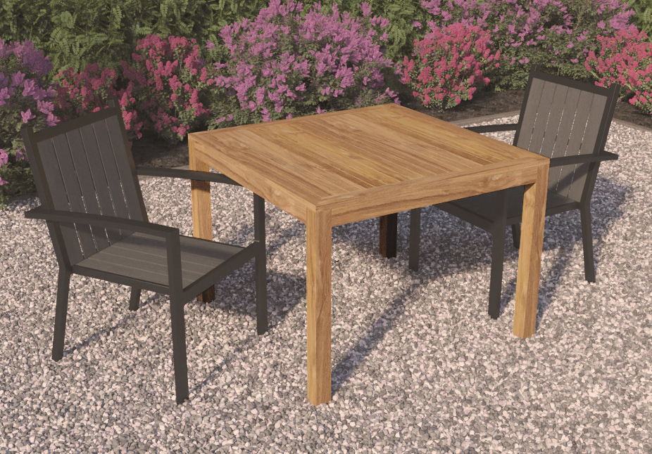 <BIG><B>Table de jardin carr&eacute;e (100 x 100 cm)</B></BIG>