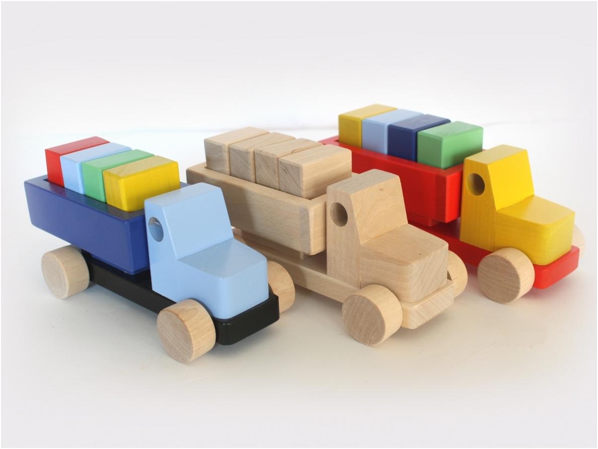 Vrachtwagen met blokken