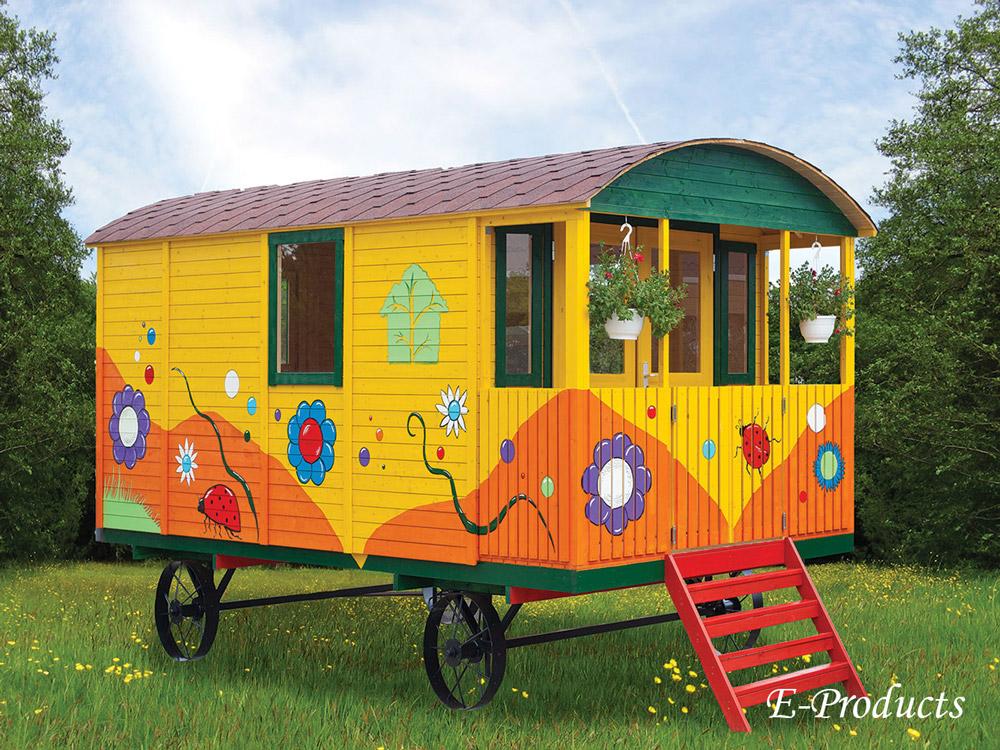 <BIG><B>Zigeunerwagen met veranda</B></BIG>
