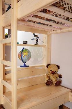 <BIG><B>Lit enfant ELIOT 90x 200</B></BIG><br /><br />(</u>bois de pin + bureau gratuit + escaliers gratuit + sommier gratuit + poutres gratuit + banc gratuit)